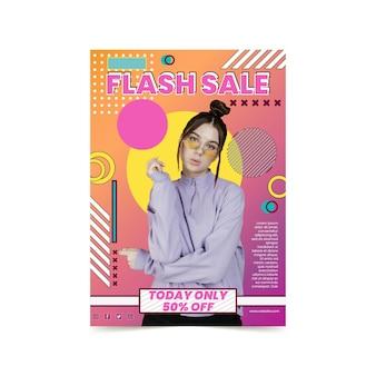 Cartel de compras online
