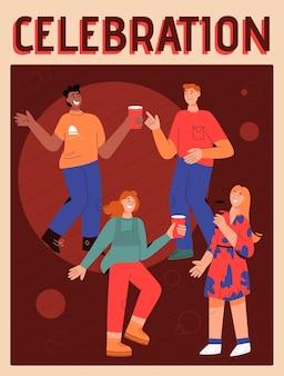 Cartel del concepto de celebración