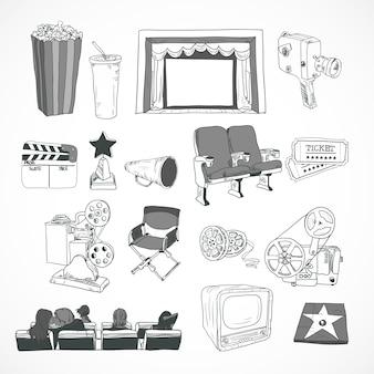 Cartel de concepto de cine vintage