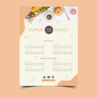 Cartel de concepto de desayuno