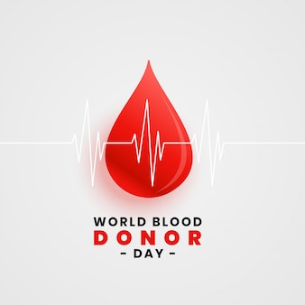 Cartel del concepto del día mundial de la donación de sangre con una gota de sangre