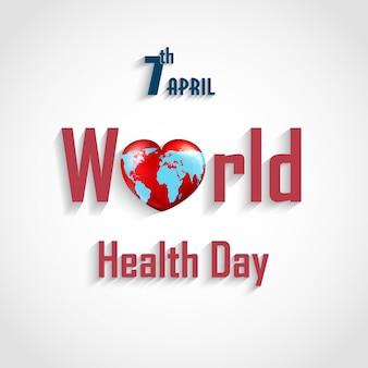 Cartel del concepto de día mundial de la salud