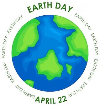 Cartel del concepto día de la tierra