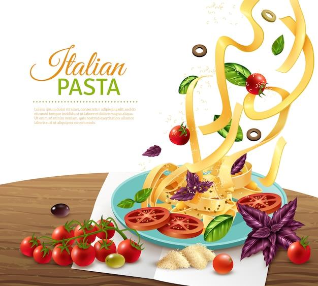 Cartel de concepto de pasta