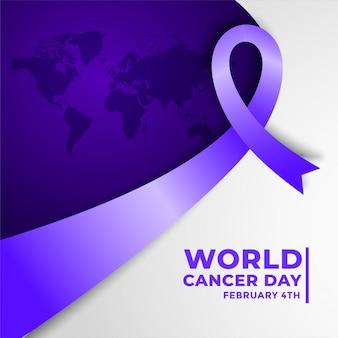 Cartel de concientización sobre el cáncer para el día mundial del cáncer