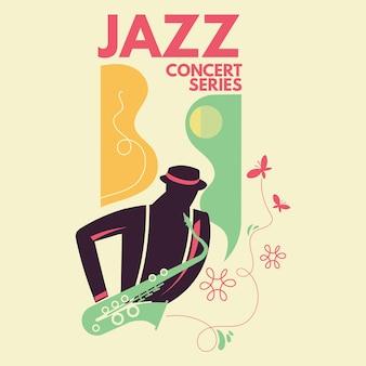 Cartel para un concierto de música jazz