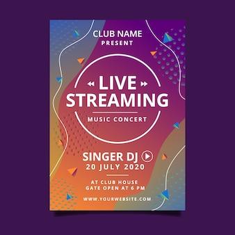 Cartel de concierto de música en vivo