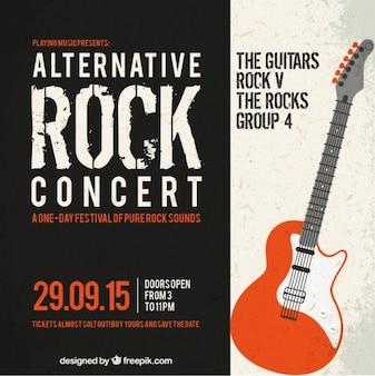 Cartel del concierto de rock alternativo