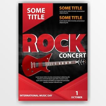 Cartel para un concierto de rock
