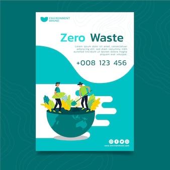 Cartel de conservación del medio ambiente