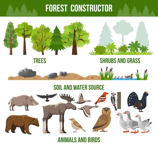 Cartel del constructor del bosque