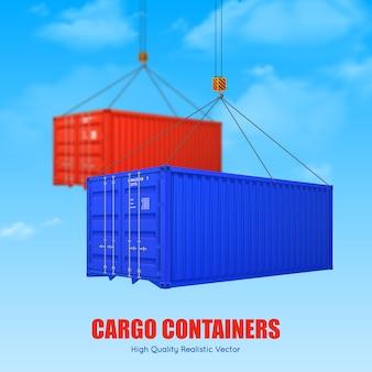 Cartel de contenedor de carga