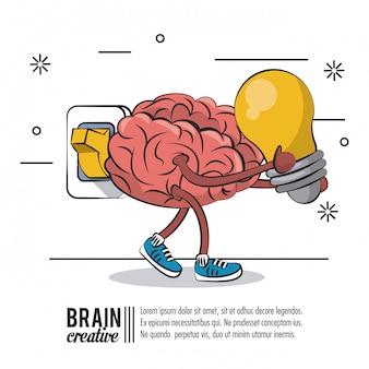 Cartel creativo cerebral con información