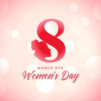 Cartel creativo del día de la mujer feliz desea diseño de tarjeta