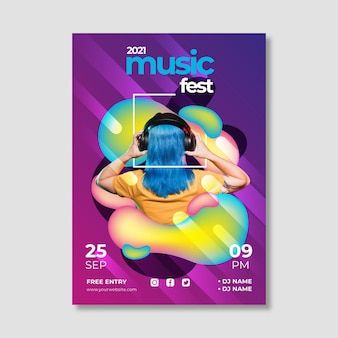 Cartel creativo del evento musical 2021