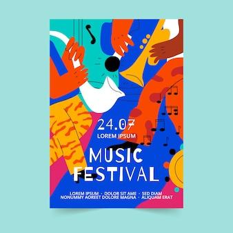 Cartel creativo del festival de música