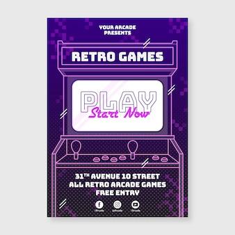 Cartel creativo de juegos retro.