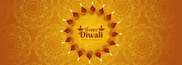 Cartel creativo o encabezado para shubh diwali