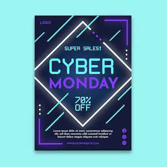 Cartel de cyber monday a4
