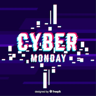 Cartel de cyber monday