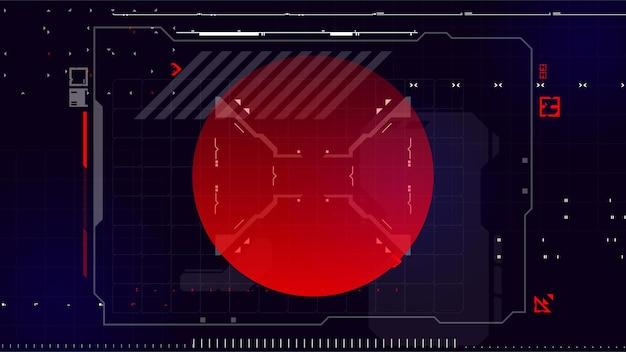 Cartel de cyberpunk moderno hud abstracto futurista bueno para la interfaz de usuario del juego ilustración vectorial eps10