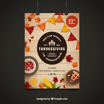 Cartel de club para thanksgiving