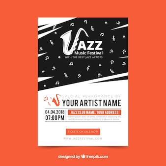 Cartel de festival de música jazz