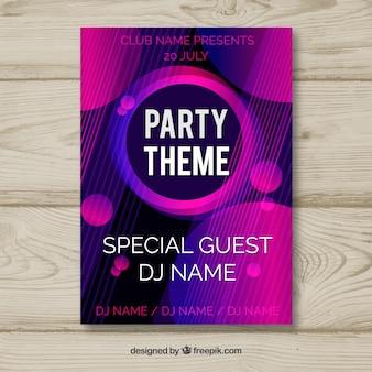 Cartel de fiesta con estilo abstracto