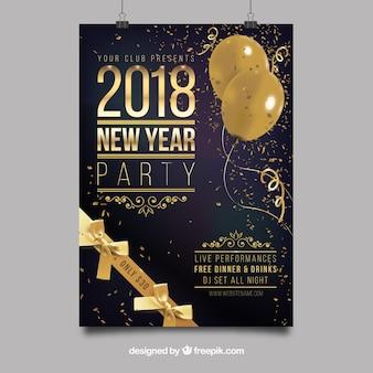 Cartel de fiesta de año nuevo