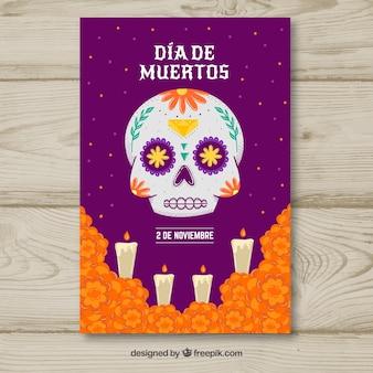 Cartel de fiesta del día de muertos