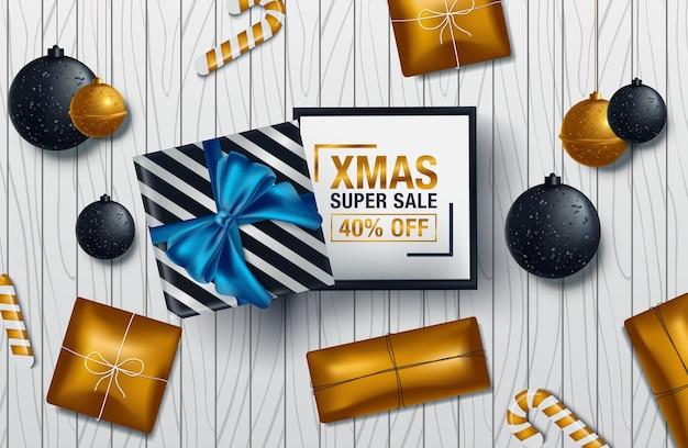 Cartel de navidad venta de fondo banner