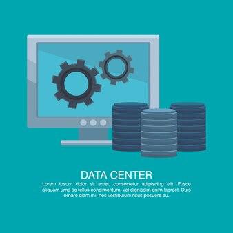 Cartel del centro de datos con información