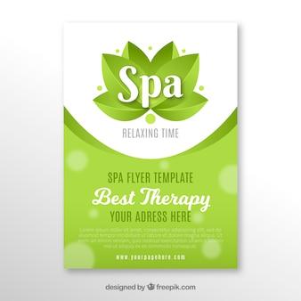 Cartel del centro de spa en diseño plano