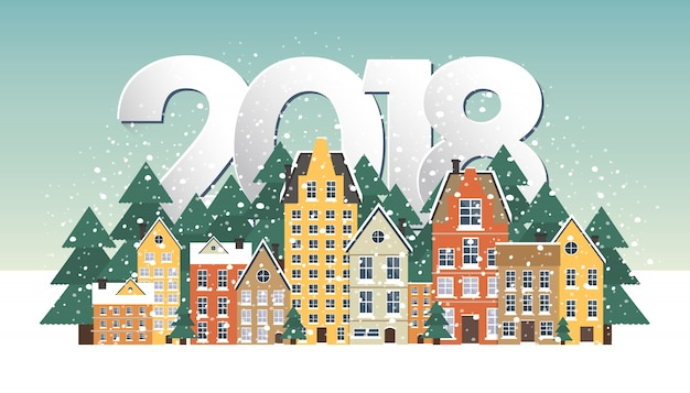 Cartel del paisaje del invierno