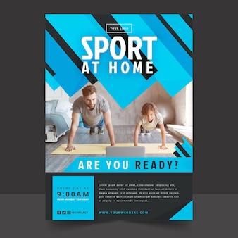 Cartel de deporte en casa