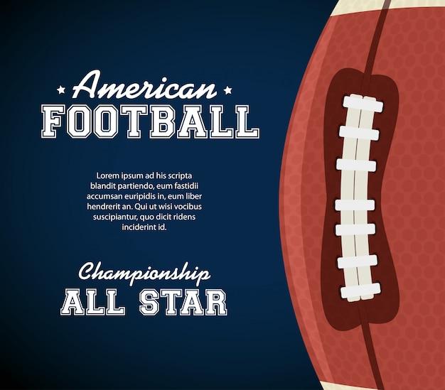 Cartel de deporte de fútbol americano