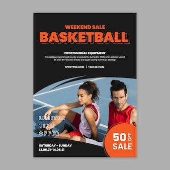 Cartel de deporte y tecnología.