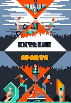 Cartel de deportes extremos