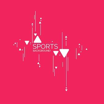 Cartel de deportes de fondo geométrico abstracto con las figuras planas
