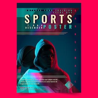 Cartel deportivo degradado