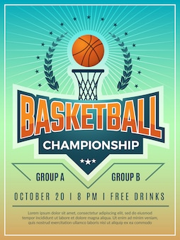 Cartel deportivo. insignia de emblema o escudo para cartel retro de competición deportiva con lugar para su texto