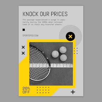 Cartel deportivo del juego