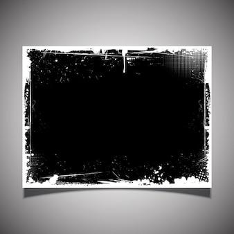 Cartel desgastado negro