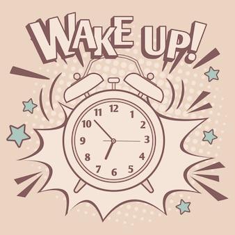Cartel despertador despertador vintage