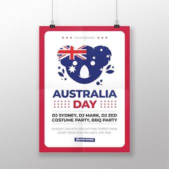 Cartel del día de australia