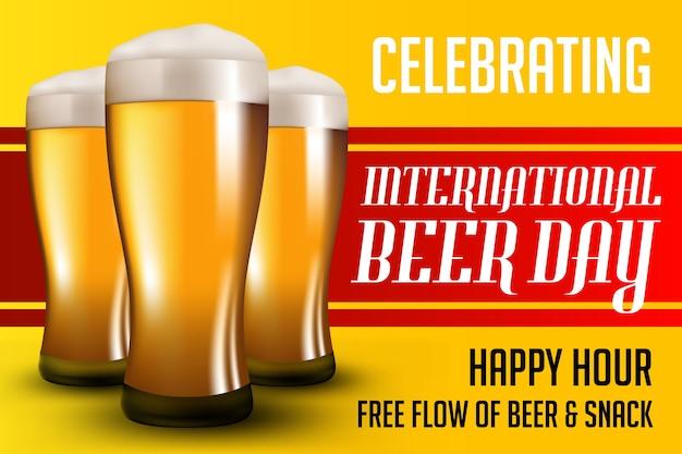 Cartel del día de la cerveza
