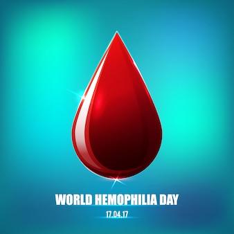 Cartel del día de la hemofilia.