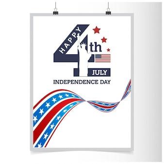 Cartel del día de la independencia 4 de julio