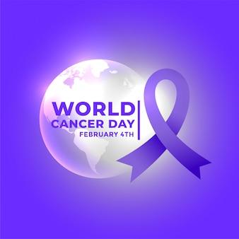 Cartel del día internacional del cáncer mundial