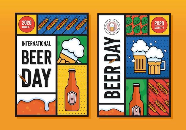 Cartel del día internacional de la cerveza